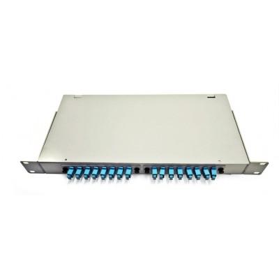 Кросс в стойку со съемными панелями RE16 1U FC/SM