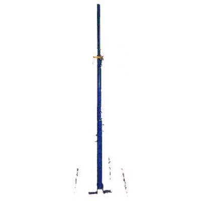 Телескопическая стальная мачта с механическим подъемом усиленная 8