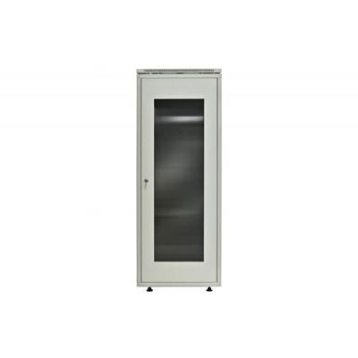 Телекоммуникационный шкаф ШТ, дверь стекло в раме, 600x600x18U