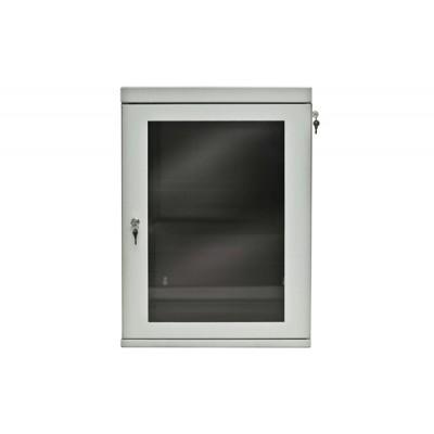 Шкаф сварной настенный ШНС, дверь стекло 530x400x6U