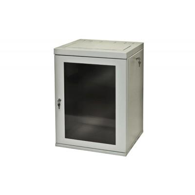 Шкаф сварной настенный ШНС, дверь стекло 530x500x6U