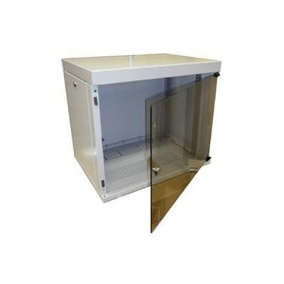 Шкаф разборный настенный, дверь стекло 530х400х9U