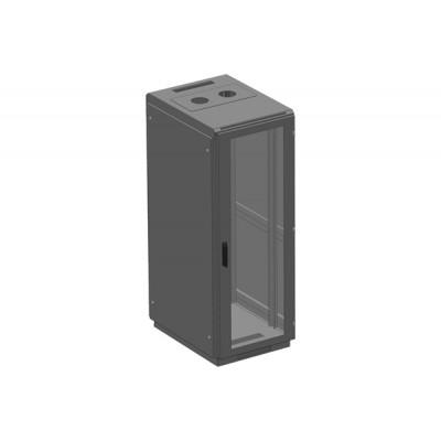 Телекоммуникационный серверный шкаф, дверь стекло в раме. ШТМ 33U/400