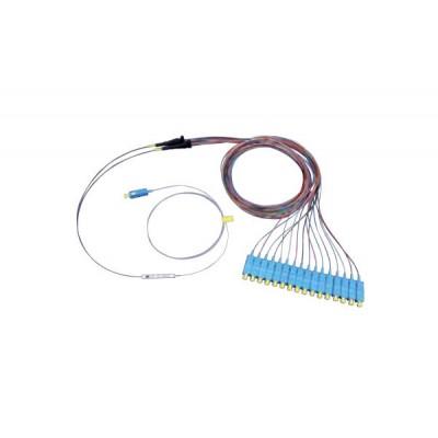 Оптический PLC Сплиттер,одномод, 1x16, 900мкм SC/APC