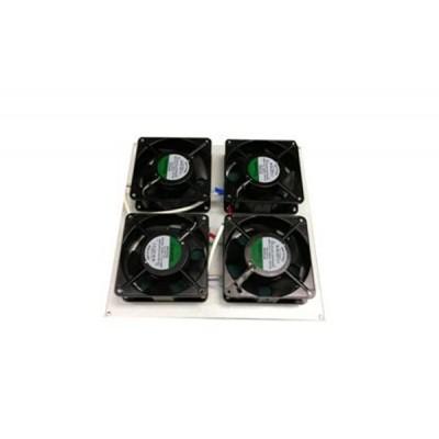 Блок вентиляторов для термошкафа с комплектом фильтров 4х220В