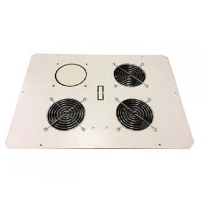 Блок вентиляторов в крышу настенного шкафа 3х220В с термостатом