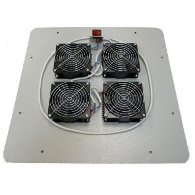 Блок вентиляторов в крышу шкафа 4х220В с термостатом