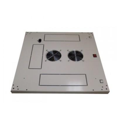 Блок малошумных вентиляторов в крышу шкафа 2х220В с термостатом