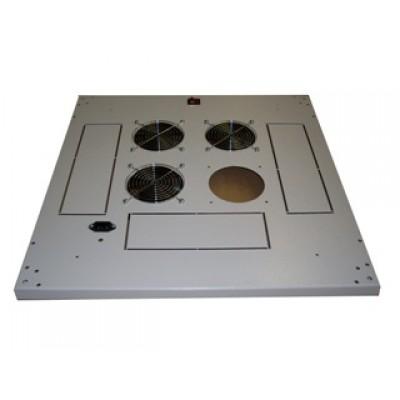 Блок малошумных вентиляторов в крышу шкафа 3х220В с термостатом