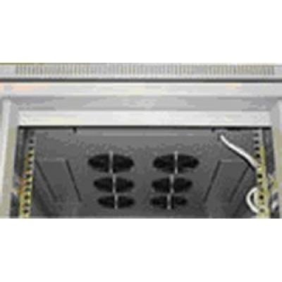 Блок малошумных вентиляторов в крышу шкафа 6х220В с термостатом