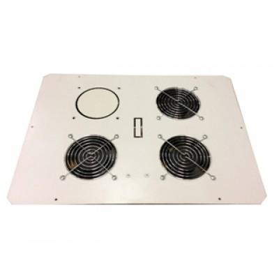 Блок малошумных вентиляторов в крышу настенного шкафа 3х220В