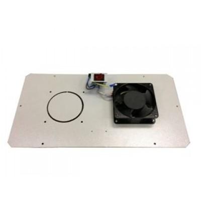 Блок малошумных вентиляторов в крышу настенного шкафа 1х220В с термостатом