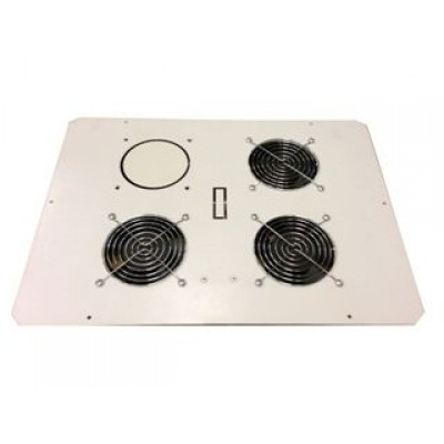 Блок малошумных вентиляторов в крышу настенного шкафа 3х220В с термостатом